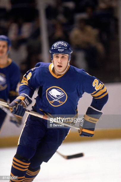 Dave Andreychuk of the Buffalo Sabres skates during a game in December of 1982
