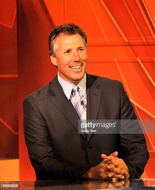 Dave Andreychuk of the Tampa Bay Lightning smiles at the NHL Draft lottery April 7 2008 at the TSN Studios in Toronto Ontario Canada