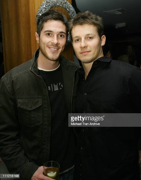 Dave Annable and Will Estes during 1st Annual Benchwarmer Trading Cards' Holiday Party and Toy Drive at Area in Los Angeles California United States