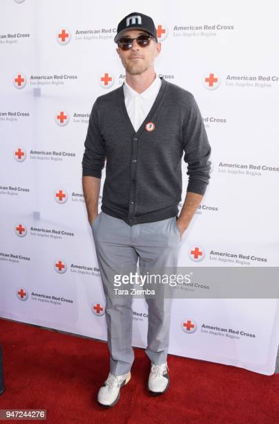Dave Annable attends the Red Cross' 5th Annual Celebrity Golf Tournament at Lakeside Golf Club on April 16, 2018 in Burbank, California.