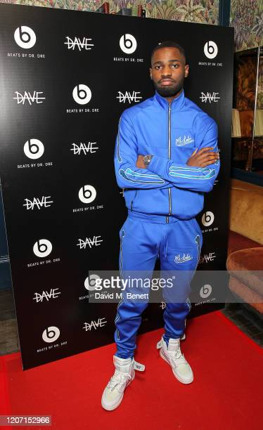 Dave attends BRIT Awards After Party With Beats By DrDre at The Scotch of St James on February 18 2020 in London England