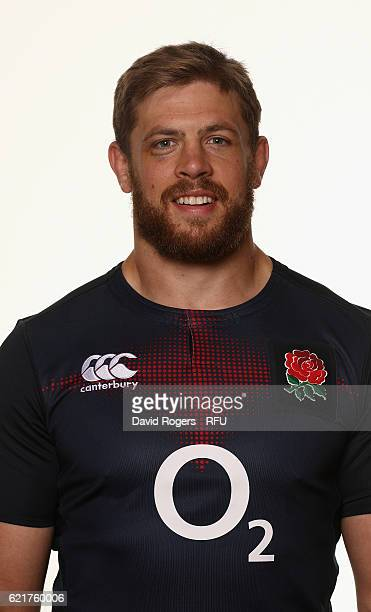 Dave Attwood of England poses for a portrait during the England Elite Player Squad photo call at Pennyhill Park on November 8 2016 in Bagshot England