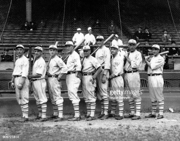Dave Bancroft Heinie Groh Frankie Frisch Irish Meusel Ross Youngs High Pockets Kelly Casey Stengel Frank Snyder and Art Nehf of the New York Giants...