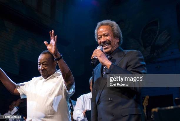 Dave Bartholomew and Allen Toussaint with Wardell Quezergue & His New Orleans Rhythm and Blues Revue at the Ponderosa Stomp at the House of Blues in...