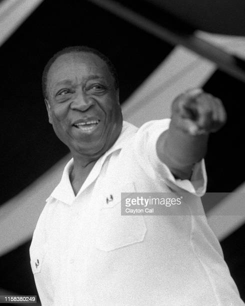 Dave Bartholomew performs with his Big Band at the New Orleans Jazz & Heritage Festival on May 3, 1998.