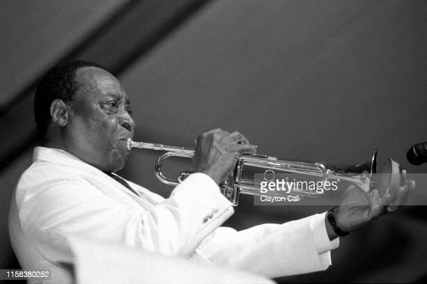 Dave Bartholomew performs with his orchestra at the New Orleans Jazz & Heritage Festival on May 1, 1994.