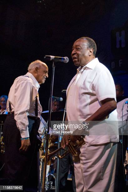 Dave Bartholomew with Wardell Quezergue & His New Orleans Rhythm and Blues Revue at the Ponderosa Stomp held at the House of Blues in New Orleans,...