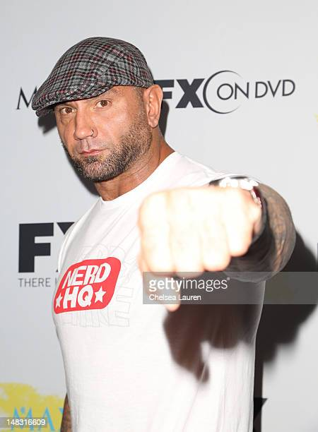 Dave Batista attends the Maxim FX and Fox Home Entertainment ComicCon Party at Andaz on July 13 2012 in San Diego California