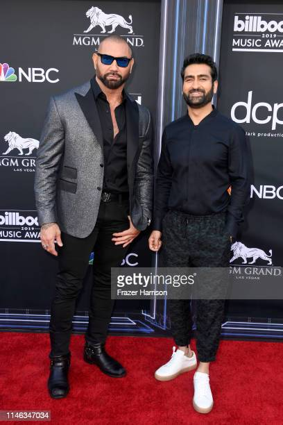 Dave Bautista and Kumail Nanjiani attend the 2019 Billboard Music Awards at MGM Grand Garden Arena on May 01, 2019 in Las Vegas, Nevada.