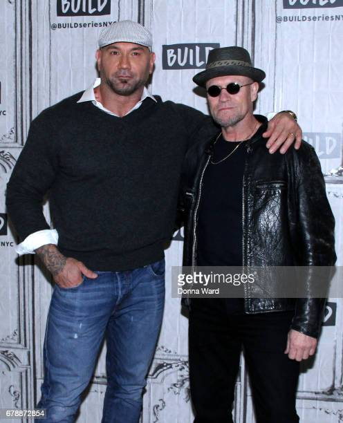 Dave Bautista and Michael Rooker appear to promote 'Guardians of the Galaxy Vol 2' during the BUILD Series at Build Studio on May 4 2017 in New York...