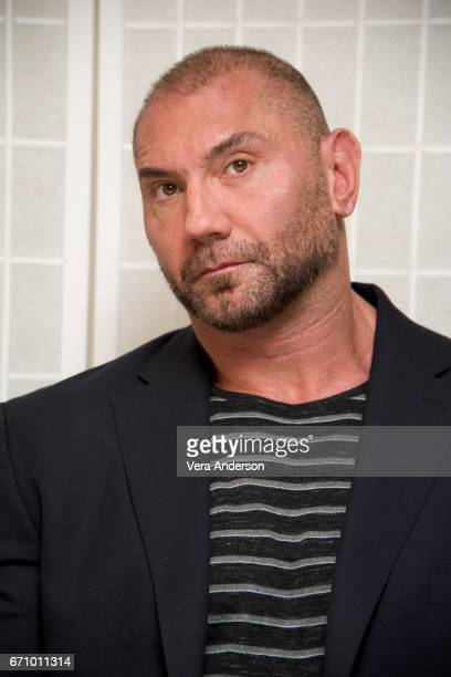 Dave Bautista at the Guardians of the Galaxy Vol 2 Press Conference at the London Hotel on April 20 2017 in West Hollywood California