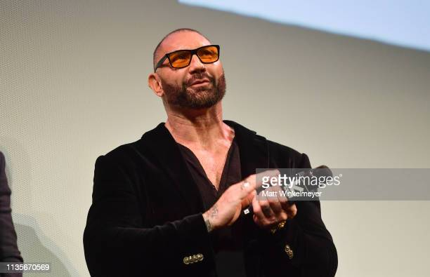 Dave Bautista attends the Stuber Premiere 2019 SXSW Conference and Festivals at Paramount Theatre on March 13 2019 in Austin Texas