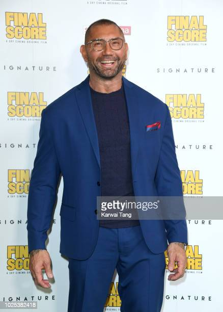 Dave Bautista attends the World Premiere of Final Score at Ham Yard Hotel on August 30 2018 in London England