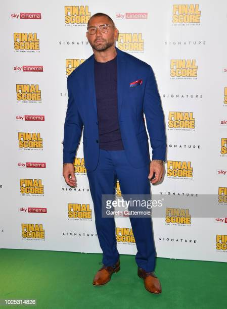 Dave Bautista attends the World Premiere of Final Score at the Ham Yard Hotel on August 30 2018 in London England