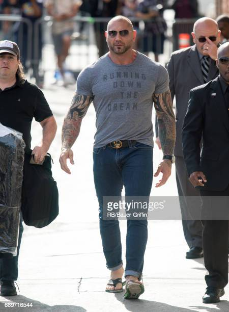 Dave Bautista is seen at 'Jimmy Kimmel Live' on April 17 2017 in Los Angeles California