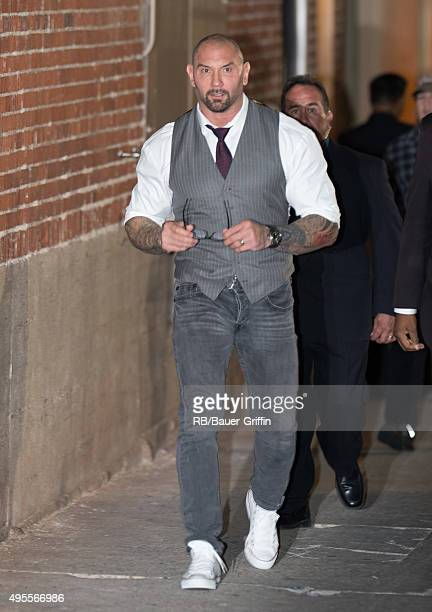 Dave Bautista is seen at 'Jimmy Kimmel Live' on November 03 2015 in Los Angeles California