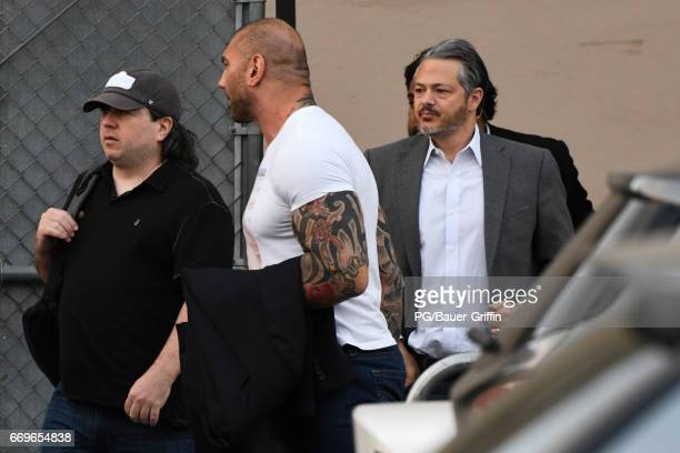 Dave Bautista is seen on April 17 2017 in Los Angeles California