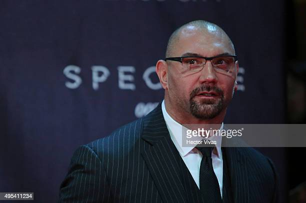 Dave Bautista looks on during the red carpet of the 'Spectre' film Premiere at Auditorio Nacional on November 02 2015 in Mexico City Mexico