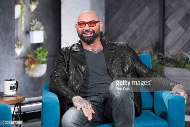 Dave Bautista visit's 'The IMDb Show' on February 21 2020 in Santa Monica California This episode of 'The IMDb Show' airs on March 5 2020