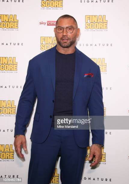 Dave Bautistaattends the World Premiere of Final Score at Ham Yard Hotel on August 30 2018 in London England