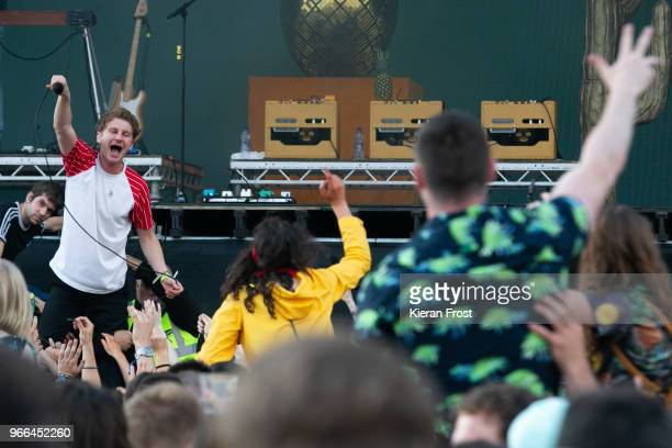 Dave Bayley of Glass Animals performs at Forbidden Fruit Festival on June 2 2018 in Dublin Ireland