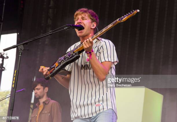 Dave Bayley of Glass Animals performs at Grant Park on August 5 2017 in Chicago Illinois