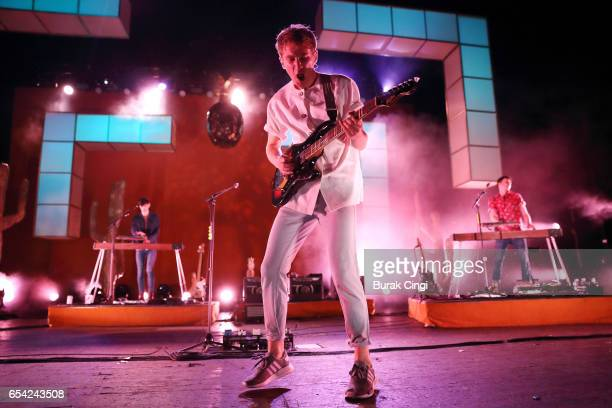 Dave Bayley of Glass Animals performs at the O2 Academy Brixton on March 16 2017 in London United Kingdom