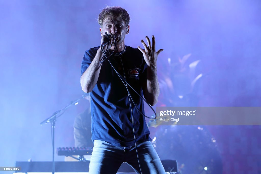 Dave Bayley of Glass Animals performs on day of Reading Festival at Richfield Avenue on August 26, 2017 in Reading, England.