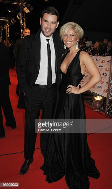 Dave Berry and Heidi Range arrive at the National Television Awards at the O2 Arena on January 20 2010 in London England
