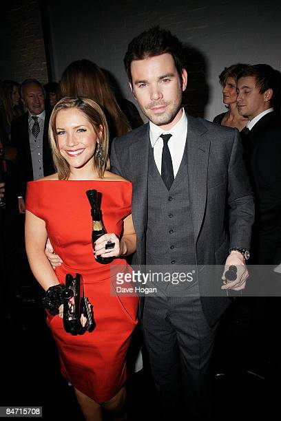 Dave Berry and Heidi Range attend the afterparty of The Elle Style Awards 2009 held at Big Sky Studios Caledonian Road on February 9 2009 in London...