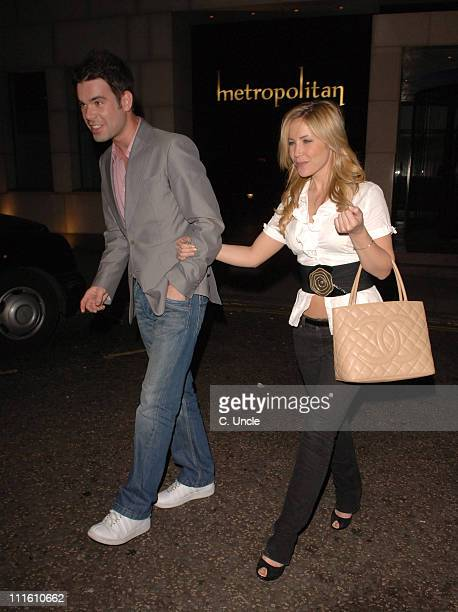 Dave Berry and Heidi Range during Heidi Range Sighting at the Metropolitan Hotel May 11 2006 at The Ivy Restaurant in London Great Britain