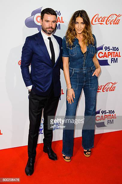 Dave Berry and Lisa Snowden attend the Jingle Bell Ball at The O2 Arena on December 6 2015 in London England