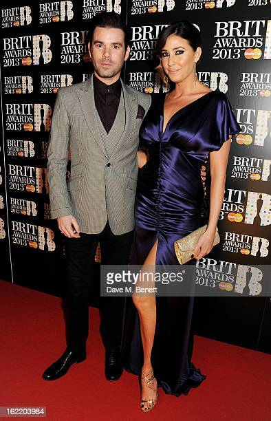 Dave Berry and Lisa Snowdon arrive at the BRIT Awards 2013 at the O2 Arena on February 20 2013 in London England