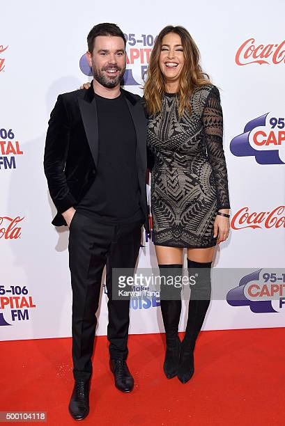 Dave Berry and Lisa Snowdon attend day one of the Capital FM Jingle Bell Ball at The O2 Arena on December 5 2015 in London England