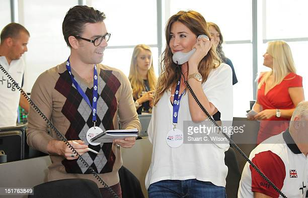Dave Berry and Lisa Snowdon attend the annual BGC charity day at BGC Partners on September 11 2012 in London England