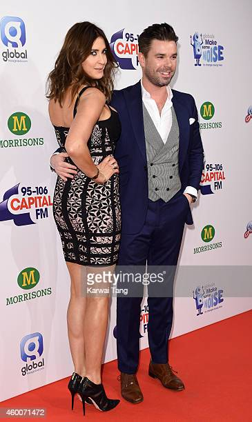 Dave Berry and Lisa Snowdon attend the Jingle Bell Ball at 02 Arena on December 6 2014 in London England