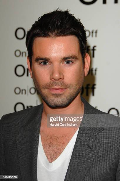 Dave Berry attends the On|Off London Fashion Week a/w 2009 Front Row on February 23 2009 in London England