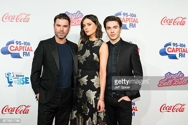 Dave Berry Lilah Parsons and George Shelley attend Capital's Jingle Bell Ball with CocaCola on December 4 2016 in London United Kingdom