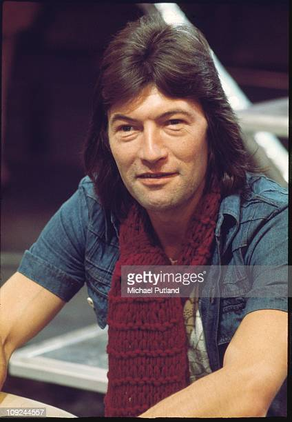Dave Berry portrait on set of Supersonic TV show London 1975