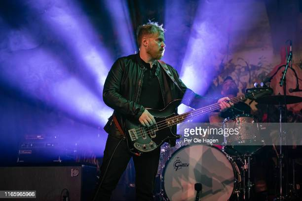 Dave Beste and Mke Miley of Rival Sons perfor on stage at The Notodden Blues Festival on August 3 2019 in Notodden Norway