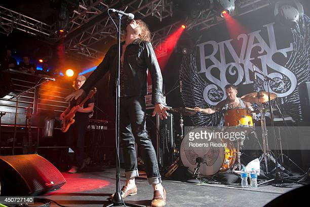 Dave Beste, Jay Buchanan and Michael Miley of Rival Sons perform on stage at The Liquid Room on June 16, 2014 in Edinburgh, United Kingdom.