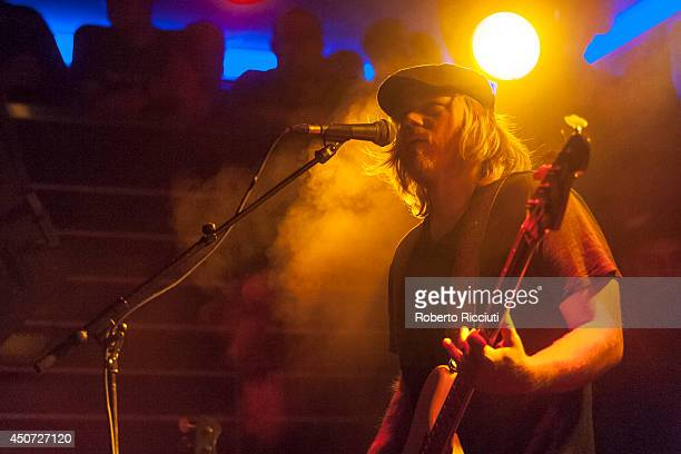 Dave Beste of Rival Sons performs on stage at The Liquid Room on June 16, 2014 in Edinburgh, United Kingdom.
