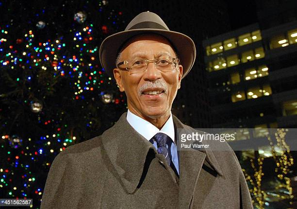 Dave Bing attends the holiday tree lighting ceremony at Campus Martius Park on November 22 2013 in Detroit Michigan