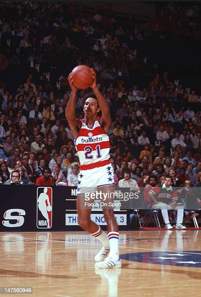 Dave Bing of the Washington Bullets in action during an NBA basketball game circa 1976 at the Capital Centre in Landover Maryland Bing played for the...