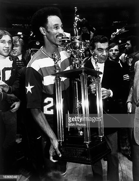 Dave Bing of the Washington Bullets is awarded the 1976 NBA All Star Game Most Valuable Player award on February 3 1976 at the Spectrum in...