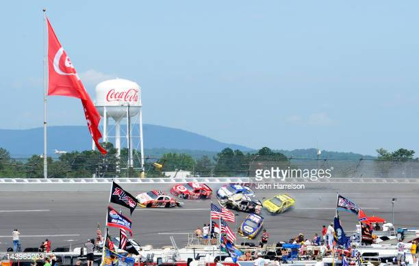 Dave Blaney driver of the Golden Corral Chevrolet Juan Pablo Montoya driver of the Target/Kraft Chevrolet Carl Edwards driver of the Fastenal Ford...