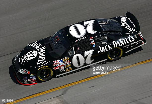 Dave Blaney driver of the Jack Daniels Chevrolet in action during practice for the NASCAR Nextel Cup Daytona 500 on February 12 2005 at the Daytona...