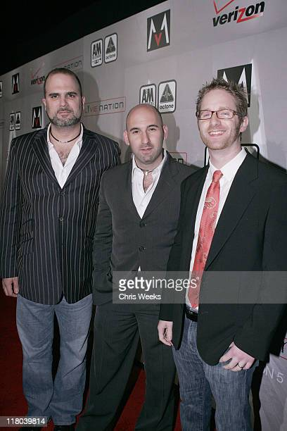 """Dave Boxenbaum, James Deaner and Ben Birkman during Maroon 5 """"It Won't Be Soon Before Long"""" Album Release Party at The Lot in West Hollywood,..."""