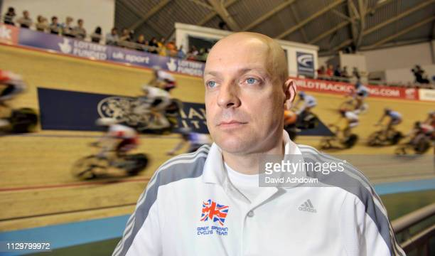 Dave Brailsford Great Britain Cycling Performance Director at the UCI World Track Championships in the National Cycling Velodrome Manchester 15th...