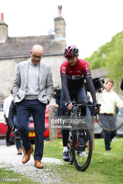 Dave Brailsford of Great Britain Team Manager of Team INEOS / Christopher Froome of Great Britain and Team INEOS / during the Team INEOS - Press...